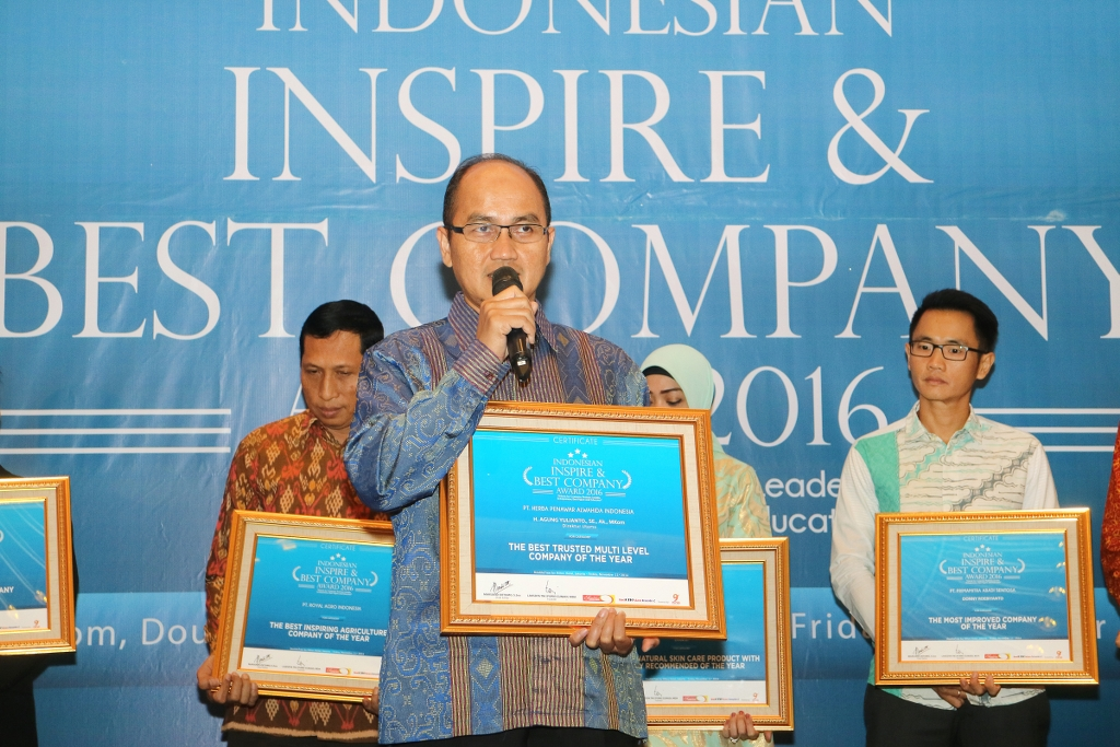 INDONESIAN INSPIRE & BEST COMPANY AWARD 2016
