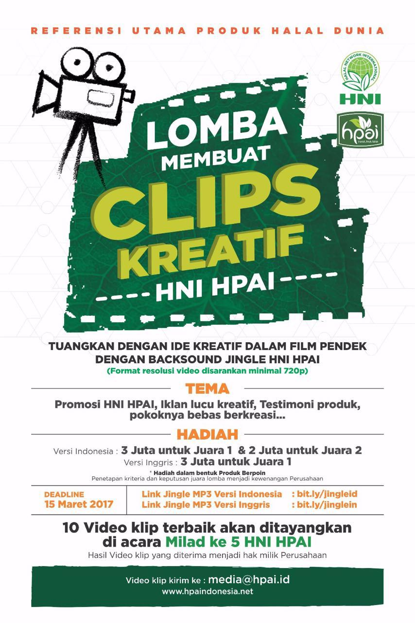 Lomba Clips Kreatif Jingle HNI-HPAI